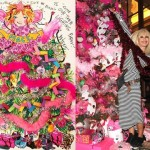 Betsey Johnson unveils her pink, sparkly Christmas tree for The Plaza hotel