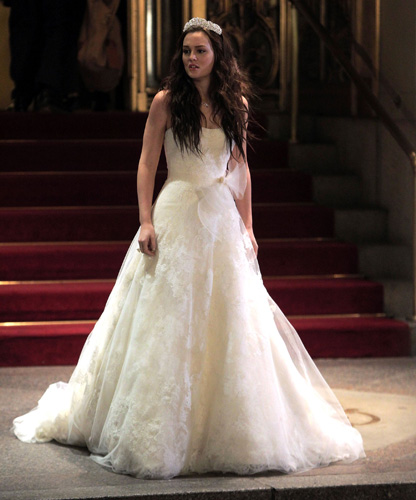 blair waldorf gossip girl wedding dress leighton meester