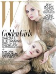 dakota and elle fanning w magazine cover valentino haute couture december 2011