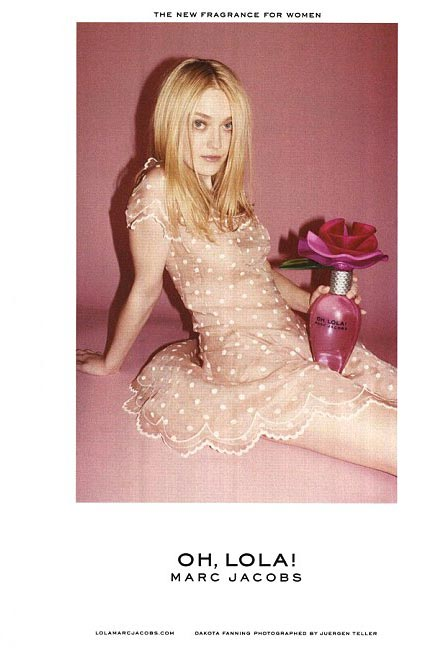 Dakota Fanning's Marc Jacobs 'Oh, Lola' ad banned for 'sexualising children'