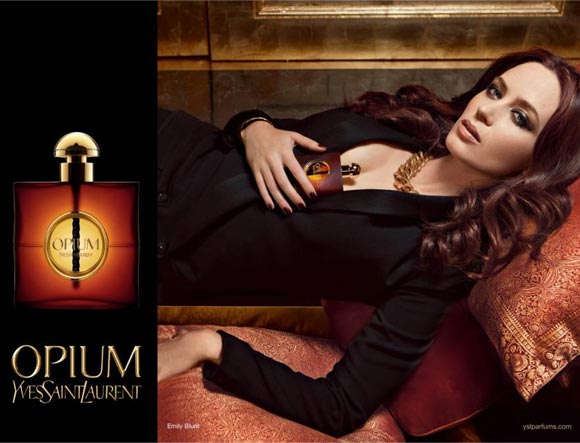 First Look: Emily Blunt's YSL Opium campaign