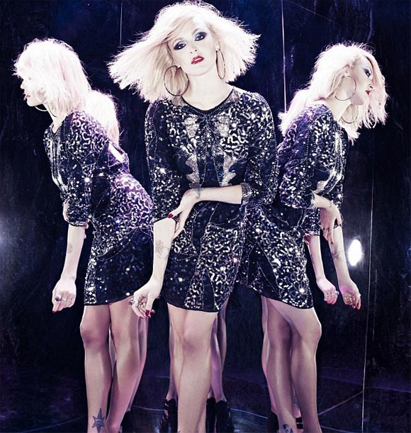 Fearne Cotton channels Blondie's Debbie Harry in her Christmas ads for Very