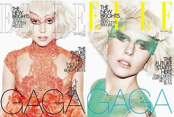 Lady Gaga makes her Elle UK debut with two January covers