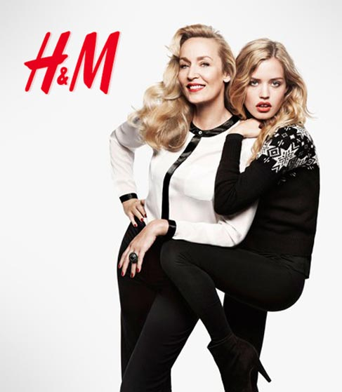 georgia may jagger jerry hall ad campaign h&m christmas 2011