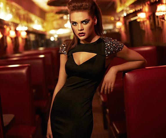 jade thompson miss selfridge christmas ad campaigns britain and ireland's next top model bintm winner
