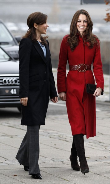 kate middleton red lk bennett military ami coat
