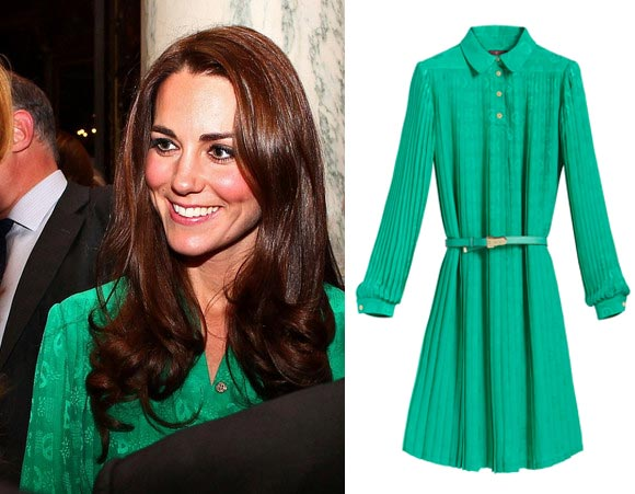 Kate Middleton wears Mulberry dress to Buckingham Palace
