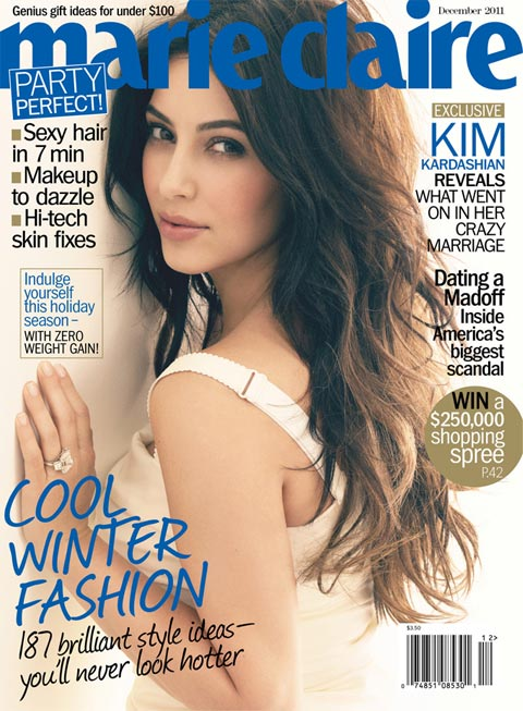 kim kardashian marie claire us december 2011