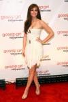leighton meester gossip girl 100 episodes red carpet balmain 2011