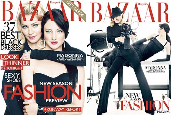 madonna december harper's bazaar cover 2011