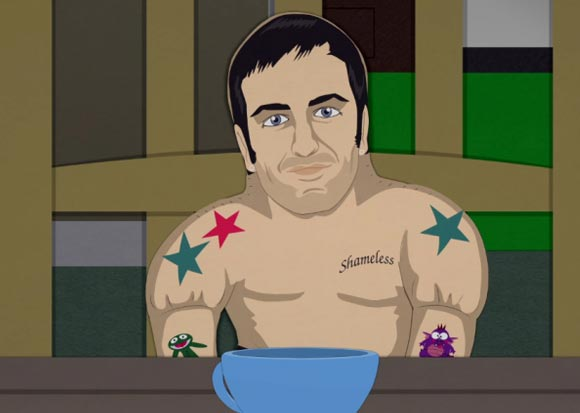 marc jacobs south park cartoon tattoo cartman
