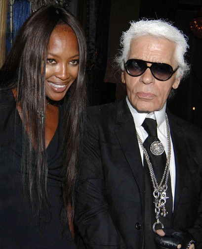 naomi campbell karl lagerfeld editing the metro interview magazine