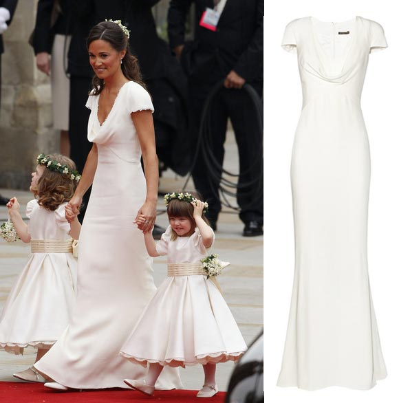 pippa middleton alexander mcqueen bridesmaid dress maid of honour net a porter carbon copy