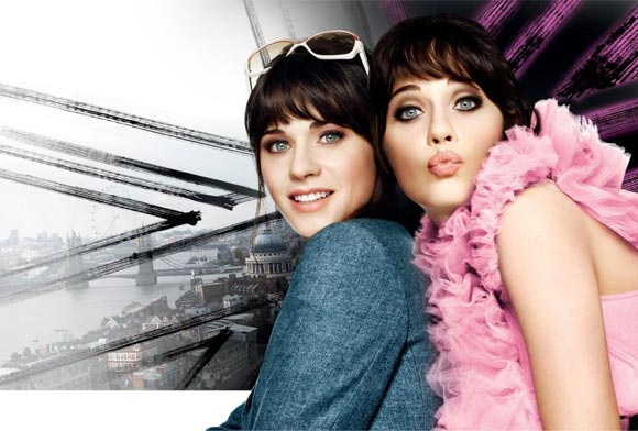 Zooey Deschanel for Rimmel's fab Glam Eyes mascara campaign