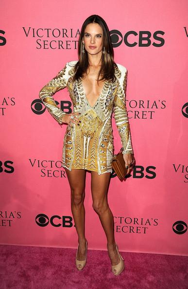 Alessandra Ambrosio slips on her Balmain armory…