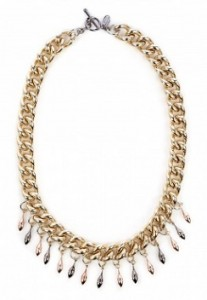 Anton Heunis bell chain gold spike necklace