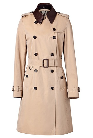 Lunchtime buy: Burberry honey Kensington trench