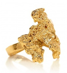 Estelle Deve ausonia molten gold nugget ring