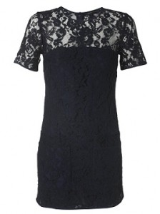 French Connection Fast Lucky Lace Dress Navy