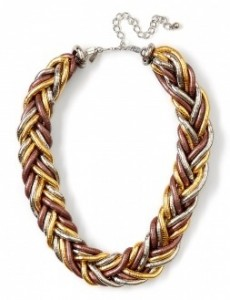 Kenneth Jay Lane multi metal bib necklace