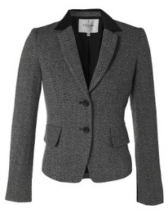 LK Bennett Black and Grey Tweed Jacket - RRP £165 Outlet £110