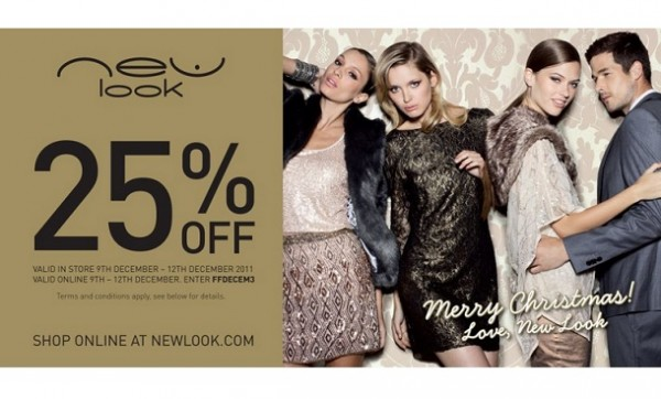 Day 9: Get 25% off at New Look