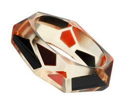 topshop odd shape trapped bangle