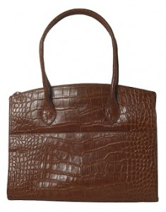 Osprey Crocodile Print Tan Bag - RRP £XXX Outlet £125