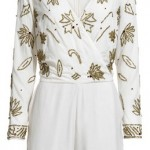 Lunchtime buy: Reiss Taryn cream embellished playsuit