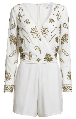 Reiss Taryn embellished playsuit