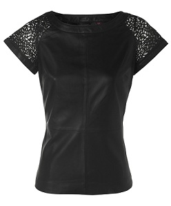 Ted Baker Lace detail leather top