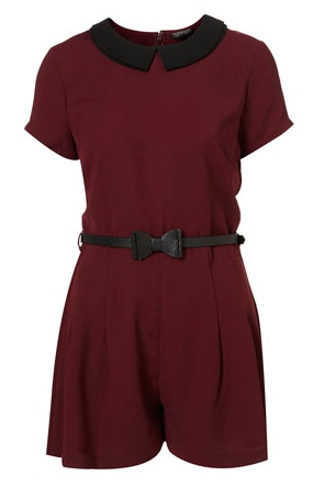 Topshop contrast collar playsuit