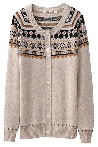 Deal of the day: Uniqlo Fair Isle cardigan