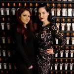 Making cocktails with Cointreau ambassador Dita von Teese