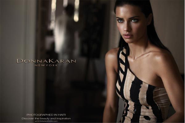 Adriana Lima for Donna Karan's Haiti-inspired spring/summer 2012 ad campaign