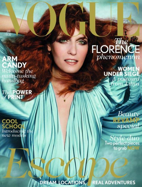 Florence Welch is British Vogue's first 2012 cover girl!