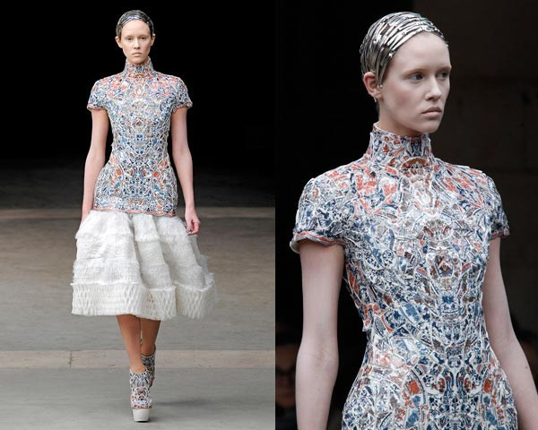 Watch Sarah Burton talk about THAT Alexander McQueen plate dress