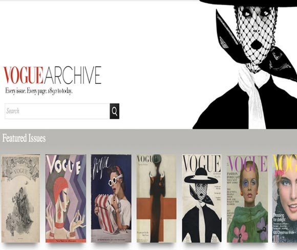 120 years of Vogue history is now available at your fingertips (for $1575 a year)