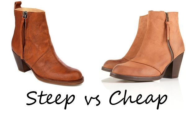 Steep vs Cheap: Acne 'Pistol' Boots