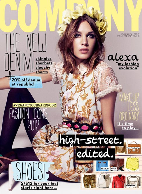 Alexa Chung covers a revamped Company magazine
