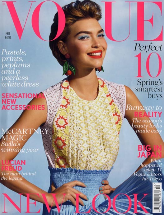 Arizona Muse channels the 50s housewife for British Vogue's February 2012 issue