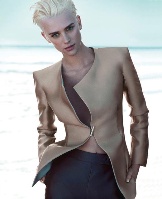 Giorgio Armani goes all androgynous in the spring/summer 2012 ad campaign