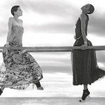 Saskia de Brauw and Joan Smalls for Chanel's spring/summer 2012 ad campaign