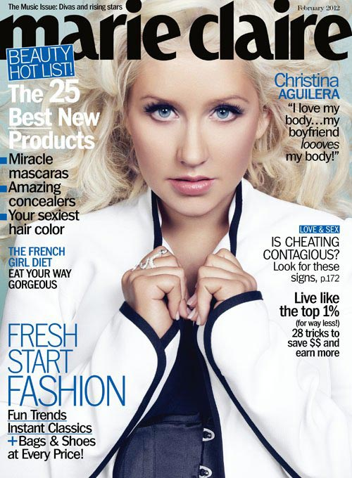 """I love my body. My boyfriend loooves my body. My son is healthy and happy, so that's all that matters to me."" – Christina Aguilera, Marie Claire US, February 2012"
