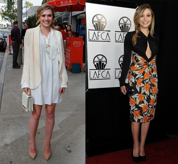 Style crushing on both of Elizabeth Olsen's looks from the weekend… help us pick a favourite!
