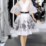 It's a muted and monochrome Christian Dior Haute Couture collection