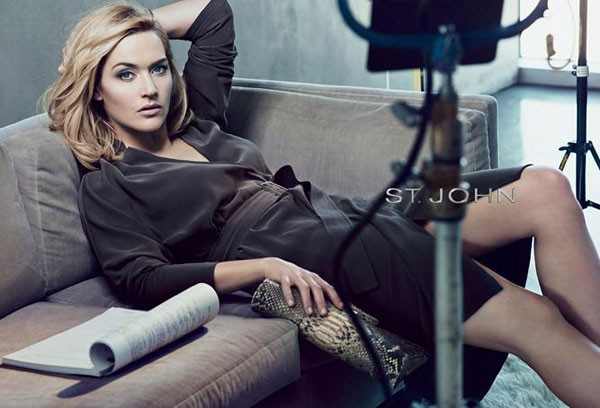 Kate Winslet smoulders in her St John spring/summer 2012 ad campaign