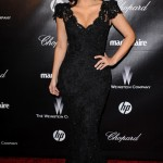 Kim Kardashian oozes Hollywood glamour in a sparkly Bruce Oldfield gown
