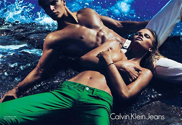 Lara Stone strips and sizzles for the Calvin Klein Jeans and mainline spring/summer 2012 campaigns