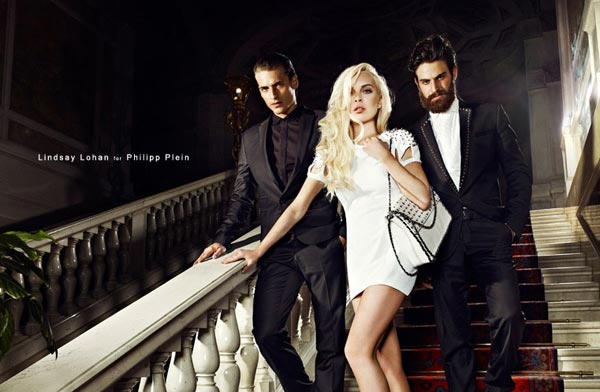 Lindsay Lohan strikes a pose for Philipp Plein spring/summer 2012